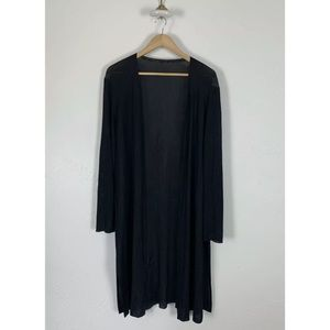Lafayette 148 Cardigan Viscose Duster Black Large
